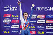 Podium, Women Omnium, Katie Archibald (Great Britain) silver medal, during the Track Cycling European Championships Glasgow 2018, at Sir Chris Hoy Velodrome, in Glasgow, Great Britain, Day 5, on August 6, 2018 - Photo luca Bettini / BettiniPhoto / ProSportsImages / DPPI<br /> - Restriction / Netherlands out, Belgium out, Spain out, Italy out -