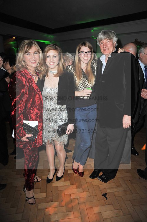 Left to right, LESLEY GARRETT and her daughter CHLOE, GEOFFREY ROBERTSON and his daughter GEORGIE ROBERTSON at the press night of the new Andrew Lloyd Webber  musical 'The Wizard of Oz' at The London Palladium, Argylle Street, London on 1st March 2011 followed by an aftershow party at One Marylebone, London NW1