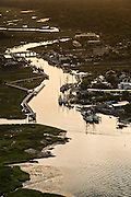 Aerial view of Shem Creek Mount Pleasant, SC.