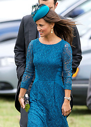 Pippa Middleton arriving at the wedding of Lady Laura Marsham in Gayton, Norfolk, United Kingdom,  Saturday, 14th September 2013. Picture by Nils Jorgensen / i-Images
