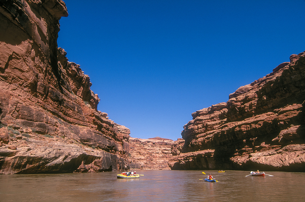 Floating the San Juan River between Grand Gulch and Lake Powell, Utah, iwth OARS outfitters.