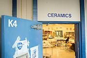Parents and students enter Jeff Albrecht's Ceramics class during Milpitas High School's Back to School Night at Milpitas High School in Milpitas, California, on September 1, 2015. (Stan Olszewski/SOSKIphoto)