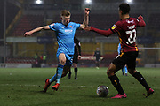 Max Sheaf and Adam Henley  during the EFL Sky Bet League 2 match between Bradford City and Cheltenham Town at the Utilita Energy Stadium, Bradford, England on 28 January 2020.