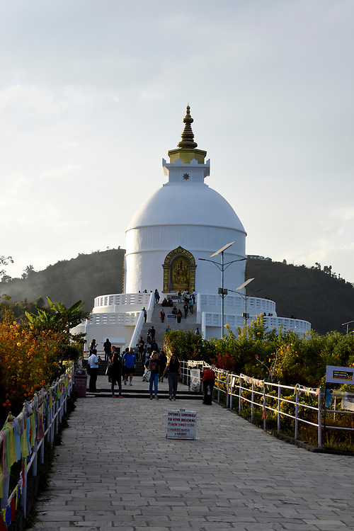 Peace Pagoda , Pokhara, Nepal
