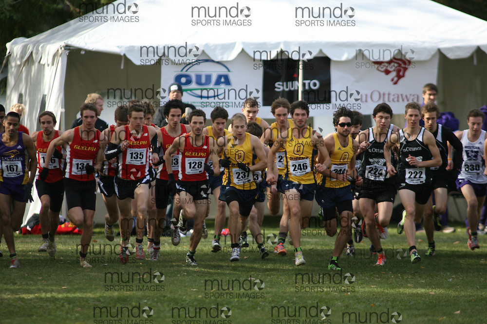 Ottawa, Ontario ---29-10-11--- The start of the 2011 men's OUA XC Championships presented by Suunto