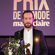 NLD/Amsterdam/20150119 - De Marie Claire Prix de la Mode awards, Jan Taminiau wint de award voor Best Dutch Designer