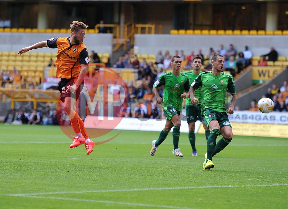 Wolverhampton's Michael Jacobs heads towards goal.  - Photo mandatory by-line: Alex James/JMP - Tel: Mobile: 07966 386802 2/08/2014 - SPORT - FOOTBALL -  Wolverhampton - Molineux Stadium  -   Wolverhampton vs  Celta Vigo - preseason