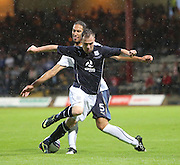 Dundee's Carlo Monti goes past Rangers' Belil Mohani - Dundee v Rangers - pre-season friendly to celebrate Dundee's 120th Aniversary at Dens Park<br /> <br />  - Pictures from David Young