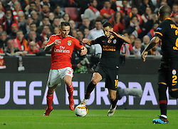 February 22, 2019 - Na - Lisbon, 21/02/2019 - SL Benfica received Galatasaray SK tonight at Est√°dio da Luz in the second qualifying round of the Europa League 2018/2019. Grimaldo  (Credit Image: © Atlantico Press via ZUMA Wire)