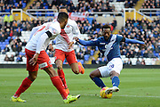 Birmingham City midfielder Jacques Maghoma crosses the ball during the Sky Bet Championship match between Birmingham City and Charlton Athletic at St Andrews, Birmingham, England on 21 November 2015. Photo by Alan Franklin.