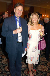 """VALENTINE GUINNESS and LUCINDA PEARS at the Vote No Dinner -The dinner is the first stage in building a """"£5m war chest for the campaign for a No vote in the forthcoming referendum on the constitution, held at the Savoy Hotel, London on 16th November 2004.<br /><br />NON EXCLUSIVE - WORLD RIGHTS"""