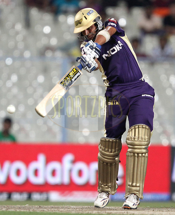 KKR's Manvinder Bisla  during match 6 of the Indian Premier League ( IPL ) between the Kolkata Knight Riders and the Deccan Chargers held at Eden GardensCricket Stadium in Kolkata, India on the 11th April 2011..Photo by Prashant Bhoot/BCCI/SPORTZPICS