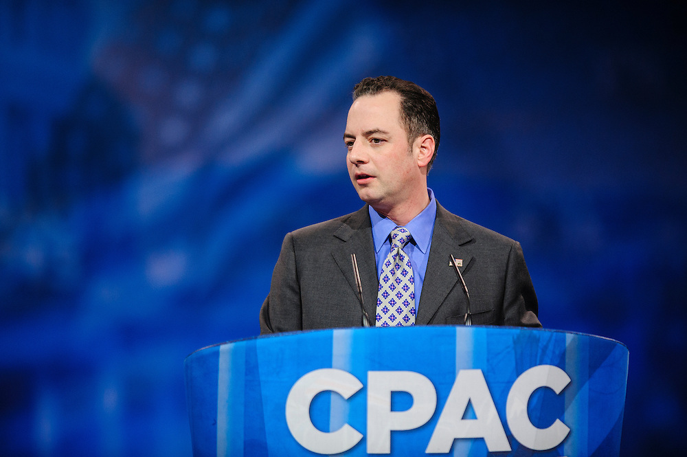 NATIONAL HARBOR, MD - MARCH 16: Reince Priebus, Chairman of the Republican National Committee, speaks at the 2013 Conservative Political Action Conference (CPAC) March 16, 2013 in National Harbor, Maryland. The American Conservative Union held its annual conference in the suburb of Washington, DC to rally conservatives and generate ideas. (Photo by Pete Marovich/Getty Images)