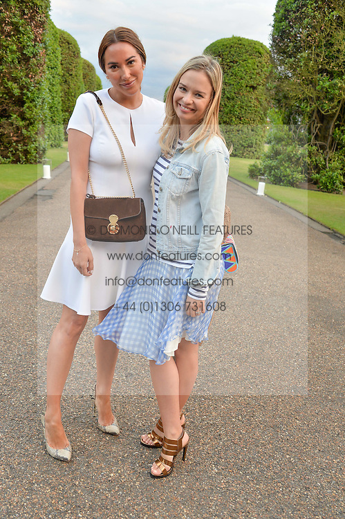 Left to right, ALEX MEYERS and MARISSA HERMER at The Ralph Lauren & Vogue Wimbledon Summer Cocktail Party at The Orangery, Kensington Palace, London on 22nd June 2015.  The event is to celebrate ten years of Ralph Lauren as official outfitter to the Championships, Wimbledon.