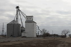 08 February 2012:  The older of two grain storage/processing facilities in Odell Illinois...This image is a High Dynamic Range illustration utilizing a stack of three images.