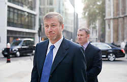 © London News Pictures. 16/11/2011. London, UK. Chelsea Football Club owner Roman Abramovich leaving The Royal Courts Of Justice at Lunchime today (16/11/2011) to give evidence. Russian Oligarch Boris Berezovsky has started a £3.2 billion lawsuit at the High Court in a battle over Abramovich's £10.3 billion fortune. Photo credit: Ben Cawthra/LNP