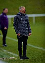 DERBY, ENGLAND - Friday, March 8, 2019: Liverpool's manager Neil Critchley during the FA Premier League 2 Division 1 match between Derby County FC Under-23's and Liverpool FC Under-23's at the Derby County FC Training Centre. (Pic by David Rawcliffe/Propaganda)