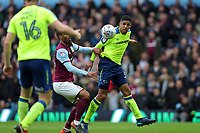 Aston Villa v Derby County - Sky Bet Championship<br /> BIRMINGHAM, ENGLAND - APRIL 28 :  Curtis Davies, of Derby County, gets to a header to clear the ball