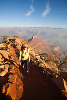 Hiking the South Kaibab Trail. Grand Canyon National Park, AZ.