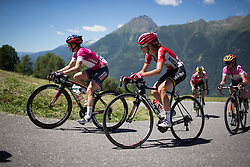 Claudia Lichtenberg (GER) of Lotto Soudal Cycling Team digs deep on the Mortirolo during the Giro Rosa 2016 - Stage 5. A 77.5 km road race from Grosio to Tirano, Italy on July 6th 2016.