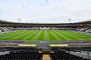 General view inside Hull City KCOM stadium before the EFL Sky Bet Championship match between Hull City and Preston North End at the KCOM Stadium, Kingston upon Hull, England on 20 October 2018.