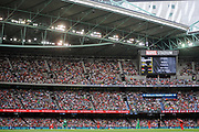 17th February 2019, Marvel Stadium, Melbourne, Australia; Australian Big Bash Cricket League Final, Melbourne Renegades versus Melbourne Stars; A  view of a packed out Marvel Stadium