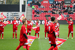 Flag Bearers - Rogan Thomson/JMP - 22/10/2016 - FOOTBALL - Ashton Gate Stadium - Bristol, England - Bristol City v Blackburn Rovers - Sky Bet EFL Championship.