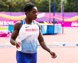 London, 03 August 2017. Anyika Onuora of Great Britain at the practice track ahead of the IAAF World Championships London 2017 at the London Stadium.