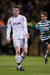 BOLTON, ENGLAND - Thursday, March 6, 2008: Bolton Wanderers' Daniel Guthrie in action against Sporting Clube de Portugal during the UEFA Cup Round of 16 1st Leg match at the Reebok Stadium. (Pic by David Rawcliffe/Propaganda)