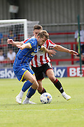 Jake Reeves during the Pre-Season Friendly match between AFC Wimbledon and Cheltenham Town at the Cherry Red Records Stadium, Kingston, England on 1 August 2015. Photo by Stuart Butcher.