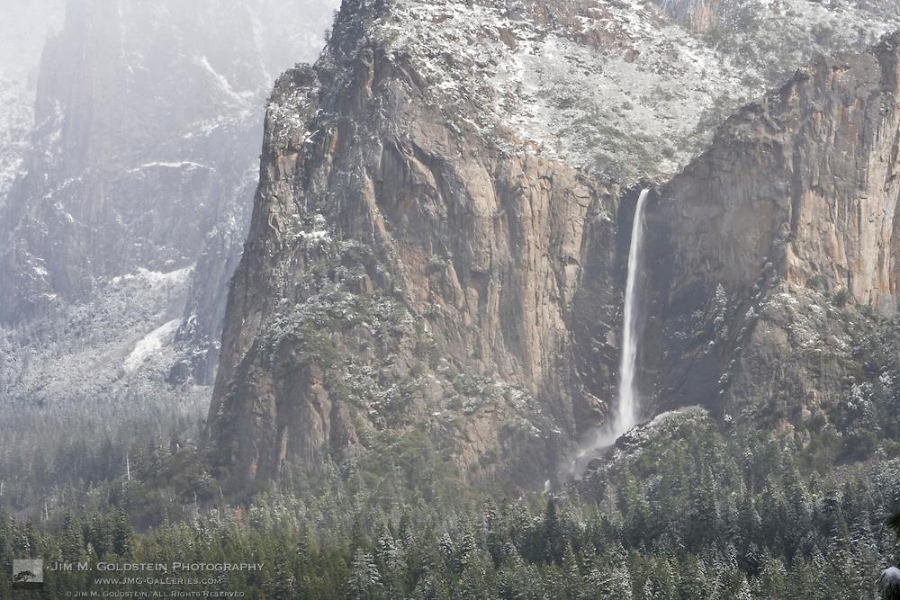 Bridaveil Fall winter scene - Yosemite National Park, California
