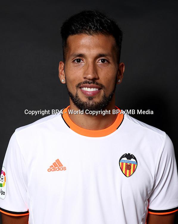 Spain - La Liga Santander 2016-2017 / <br /> ( Valencia C.F.) - <br /> Ezequiel Marcelo Garay Gonzalez &quot; Ezequiel Garay &quot;