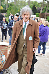 SIR TOM STOPPARD at the 2012 RHS Chelsea Flower Show held at Royal Hospital Chelsea, London on 21st May 2012.