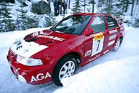Ål 180103 - Rally NM åpning i Hallingdal - Rune DAlsjø og Gøran Bergsten fra Kongsvinger ble nummer 4.<br /> <br /> Foto: Andreas Fadum, Digitalsport