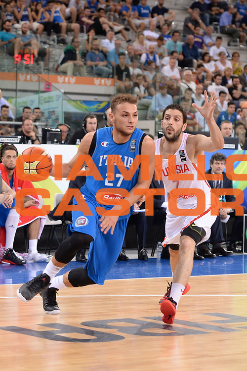 DESCRIZIONE: Torino FIBA Olympic Qualifying Tournament Italia - Tunisia<br /> GIOCATORE: Stefano Tonut<br /> CATEGORIA: Nazionale Italiana Italia Maschile Senior<br /> GARA: FIBA Olympic Qualifying Tournament Italia - Tunisia<br /> DATA: 04/07/2016<br /> AUTORE: Agenzia Ciamillo-Castoria