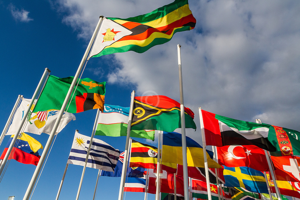 international array of flags