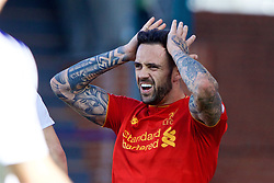 BIRKENHEAD, ENGLAND - Sunday, September 25, 2016: Liverpool's Danny Ings looks dejected after missing a chance against Sunderland during the FA Premier League 2 Under-23 match at Prenton Park. (Pic by David Rawcliffe/Propaganda)