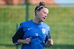 Spela Kolbl of Slovenia during women football match between National teams of Slovenia and Iceland in 2019 FIFA Women's World Cup qualification, on April 06, 2018 in Sportni park Lendava, Lendava, Slovenia. Photo by Mario Horvat / Sportida