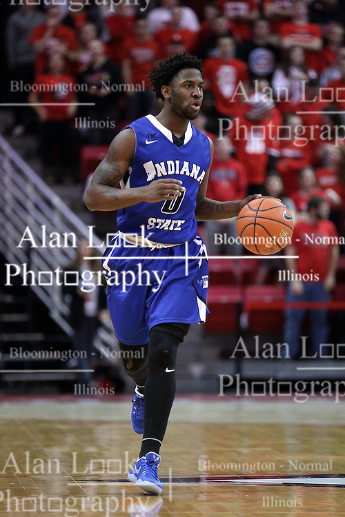 20 January 2017: Everett Clemons during an NCAA Missouri Valley Conference mens basketball game Where the Purple Aces of Evansville lost to the Illinois State Redbirds 75-73 in Redbird Arena, Normal IL