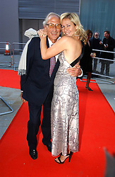 TANIA BRYER and her father at the English National Opera's 'On The Town' presented by SKY and Artsworld followed by a Tribute to Leonard Bernstein hosted by Jerry Hall at The London Coliseum, St.Martin's Lane, London WC2 on 11th May 2005.
