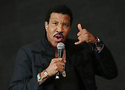 Lionel Richie performs on the Pyramid stage at Glastonbury music festival on Worthy Farm, Glastonbury, England, Sunday, June 28, 2015.(Photo by Joel Ryan/Invision/AP)