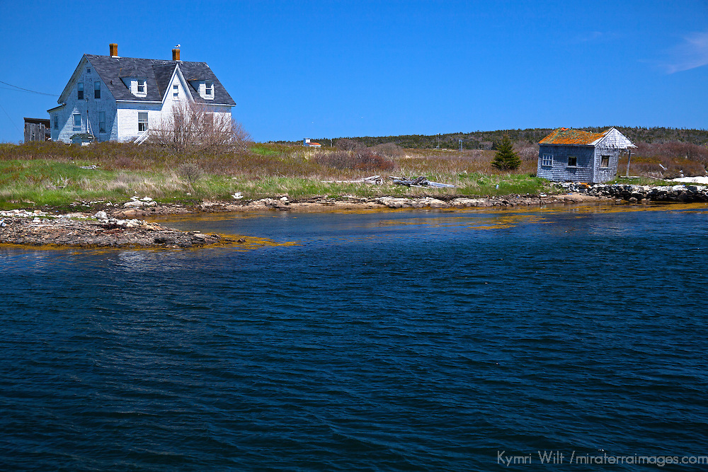 North America, Canada, Nova Scotia, Canso. Home and boathouse of Canso.