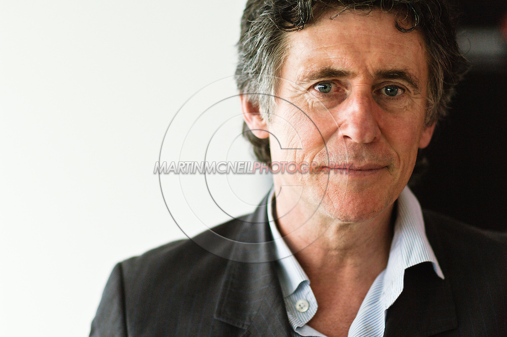"EDINBURGH, SCOTLAND, AUGUST 18, 2006: Actor Gabriel Byrne arrives at a press conference to promote his new film ""Jindabyne"" at the 60th Edinburgh Film Festival"