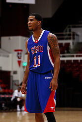 Nov 14, 2011; Stanford CA, USA;  Southern Methodist Mustangs guard London Giles (11) before a free throw against the Colorado State Rams during the first half of a preseason NIT game at Maples Pavilion. Colorado State defeated Southern Methodist 75-56. Mandatory Credit: Jason O. Watson-US PRESSWIRE