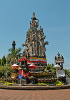 Heroes monument in Klungklung in Bali Indonesia