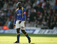 Photo: Lee Earle.<br /> Southampton v Cardiff City. Coca Cola Championship. 21/10/2007. Cardiff's Jimmy Floyd Hasselbaink looks dejected as they trail to Southampton.
