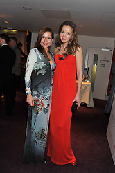 Left to right, OLGA SAGITOVA and NADYA VOLOBUEVA at the Russian Ballet Icons Gala & Dinner dedicated to Anna Pavlova held at the The London Coliseum 33-35 St.Martin's Lane, London on 4th March 2012.