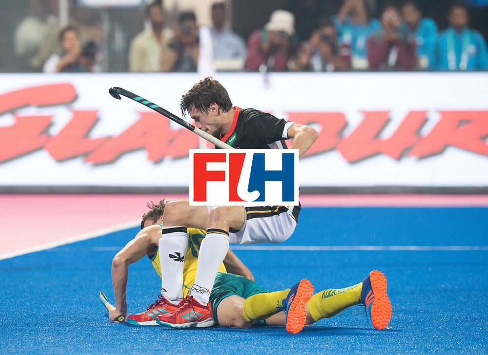 Odisha Men's Hockey World League Final Bhubaneswar 2017<br /> Match id:05<br /> 05 GER v AUS (Pool B)<br /> Foto: Florian Fuchs (Ger) sitting.<br /> WORLDSPORTPICS COPYRIGHT FRANK UIJLENBROEK