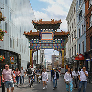 Chinese President - Xi Jinping donated the Pagoda in Chinatown London on July 19 2018, UK