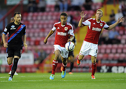 Bristol City's Bobby Reid drives forward with the ball  - Photo mandatory by-line: Joe Meredith/JMP - Tel: Mobile: 07966 386802 27/08/2013 - SPORT - FOOTBALL - Ashton Gate - Bristol - Bristol City V Crystal Palace -  Capital One Cup - Round 2